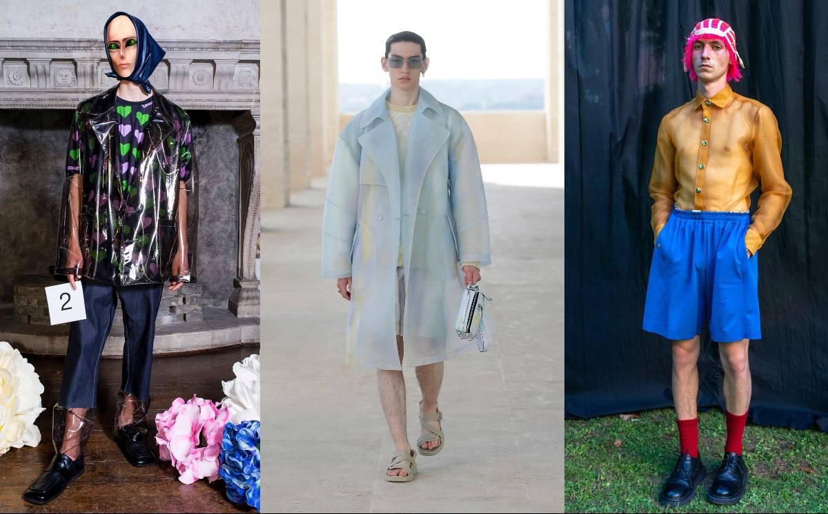 Piel al descubierto y sobrecarga de estampados: Dos tendencias SS22 de la Semana de la Moda masculina de Milán